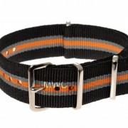 Black Grey Tangerine MWC NATO Strapl
