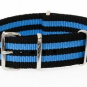 MWC Blue and Black NATO Strapl