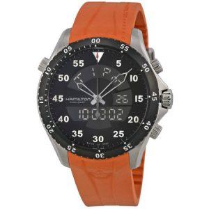 Hamilton Khaki Aviation Flight Timer Quartz H64554431 Watch